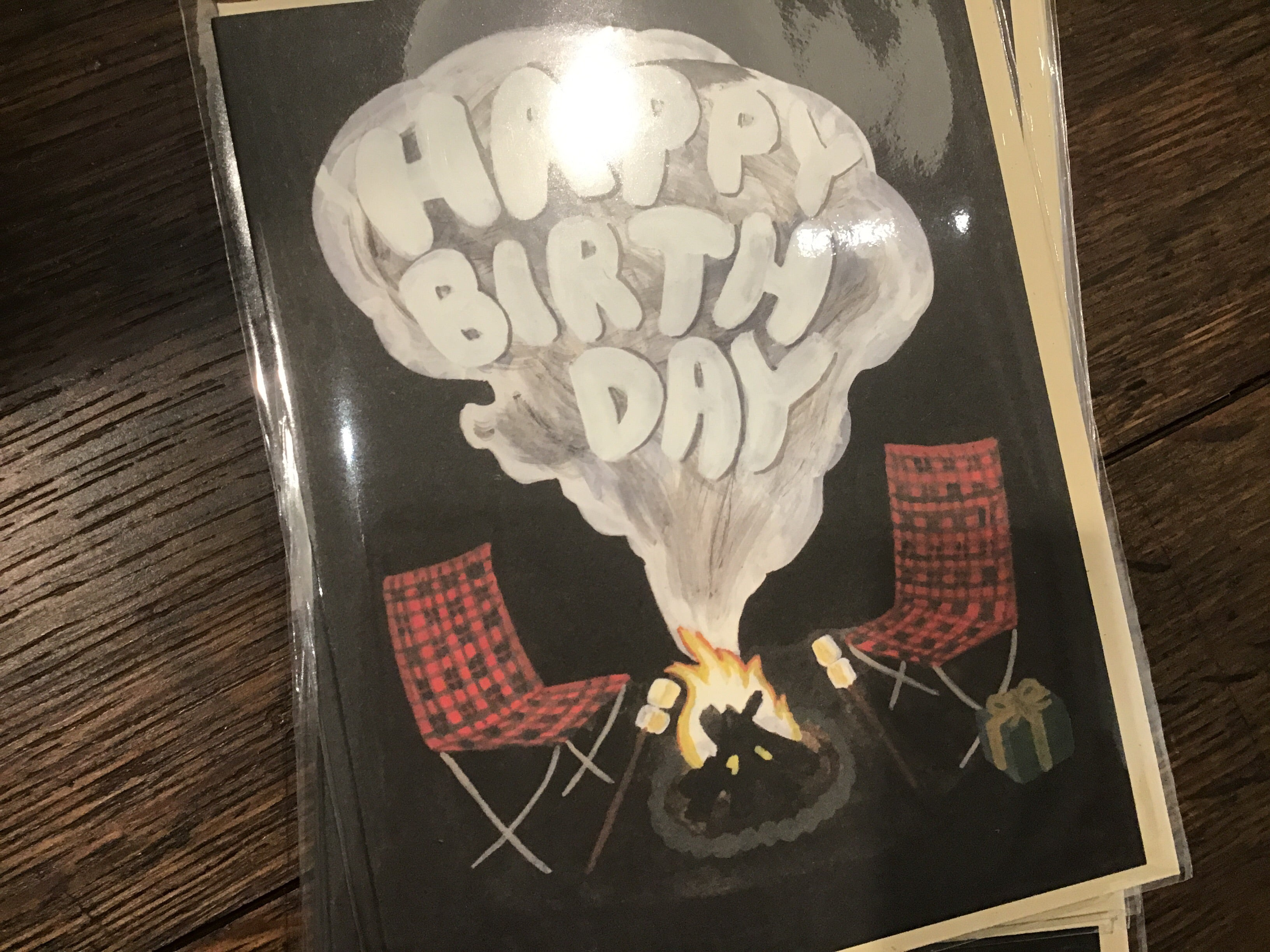 Campfire Birthday Card by Small Adventure