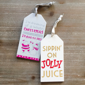 Christmas Bottle Tags