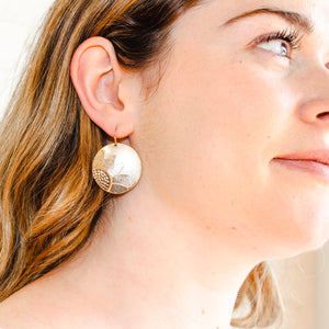 Daisy Mae Coin Earrings