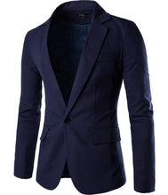 Load image into Gallery viewer, Jacket navy blue color with silk lining