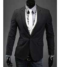 Load image into Gallery viewer, White mens jacket adjacent silhouette