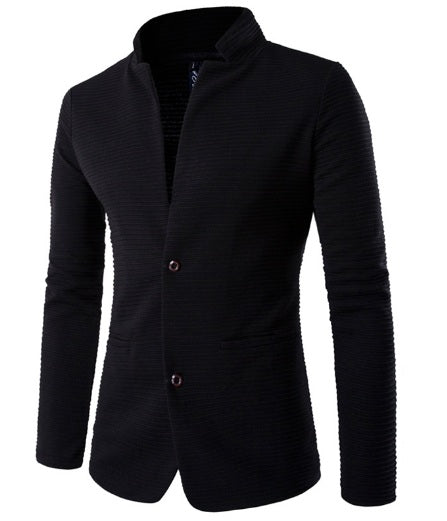 Fashion mens jacket with patches on the elbows
