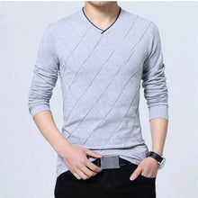 Load image into Gallery viewer, Fashionable Men's Fitness Long Sleeve T-shirt