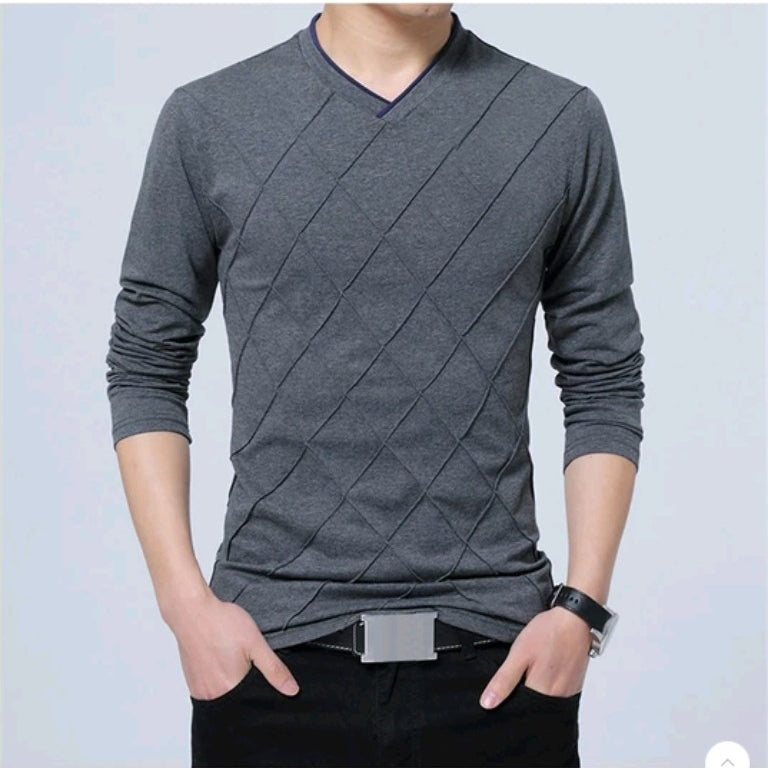 Fashionable Men's Fitness Long Sleeve T-shirt