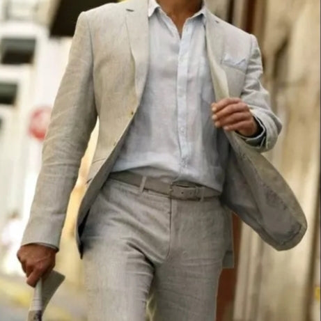 Beige suit: jacket, pants