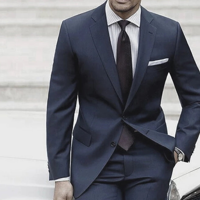 High quality men's suit with wool