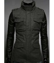 Load image into Gallery viewer, Warm men's jacket made of dark gray cashmere