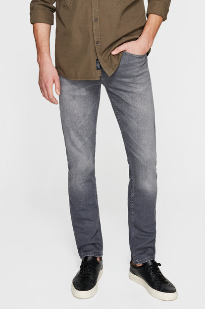 Gray jeans perfect fit  for any season.