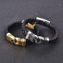 Load image into Gallery viewer, Braided Leather Stainless Steel Bracelet