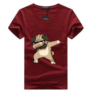 Man's T-shirt . Dancing dog.