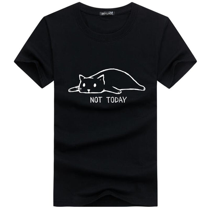 T-shirt. Lazy cat