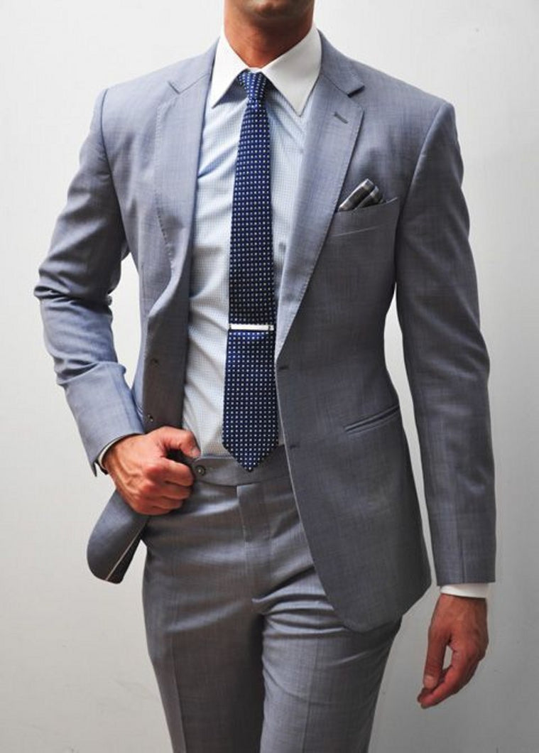Light Gray Tuxedos (Jacket + Pants + Tie)