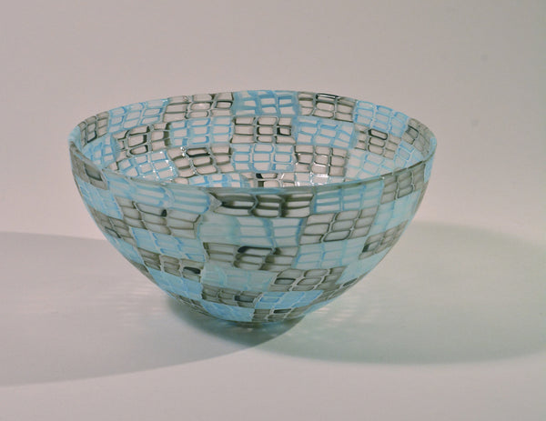 Black and Aqua Murrine Bowl by Ben Edols and Kathy Elliott