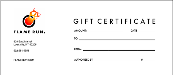 Gift Certificate - Activity
