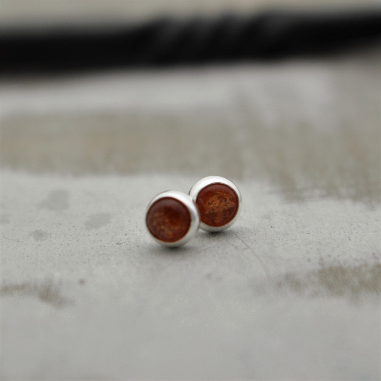 5mm Sunstone Studs Earrings