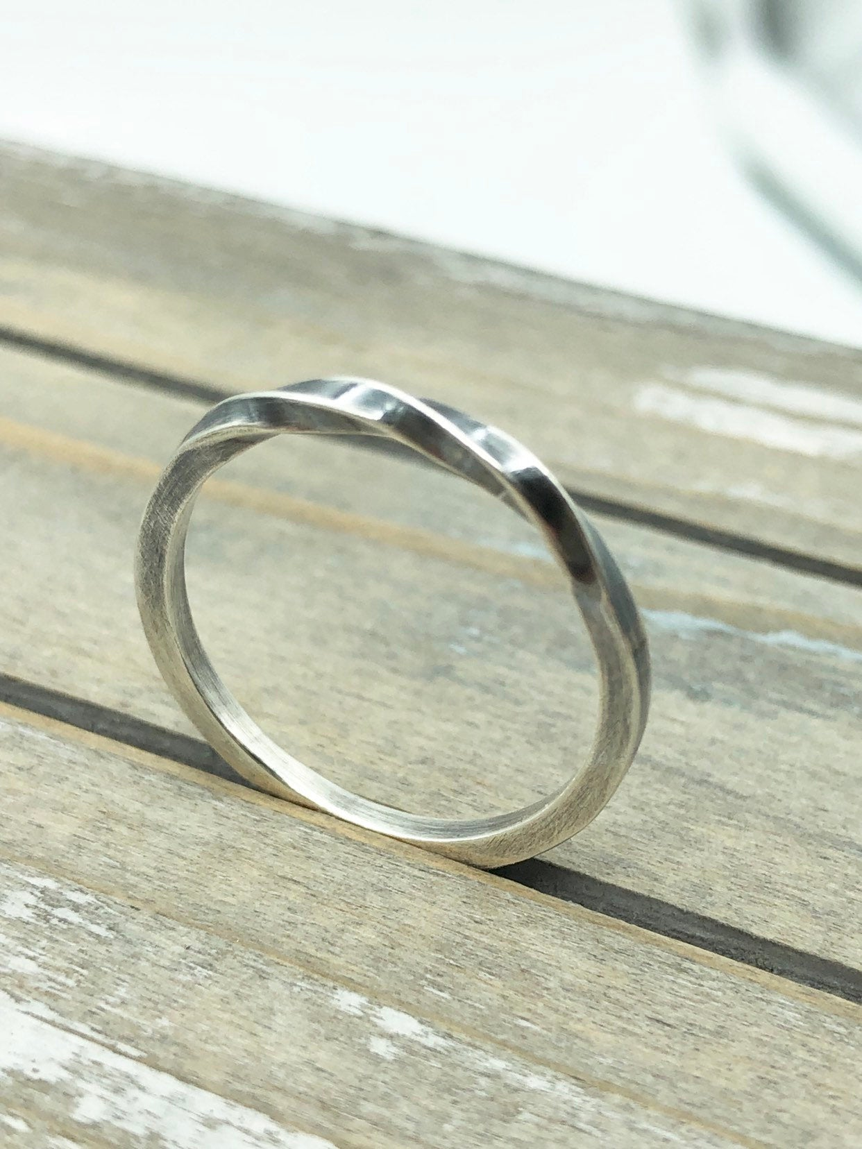Twisted Ring - Sterling Silver Ring  - Simple Band - Gift For Her - Jewelry Sale - Stacking ring - ring