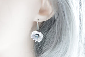 Lapis Sterling silver daisy earrings