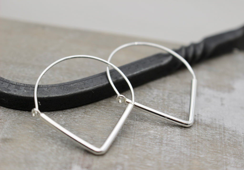 Triangle Sterling Silver Hoops