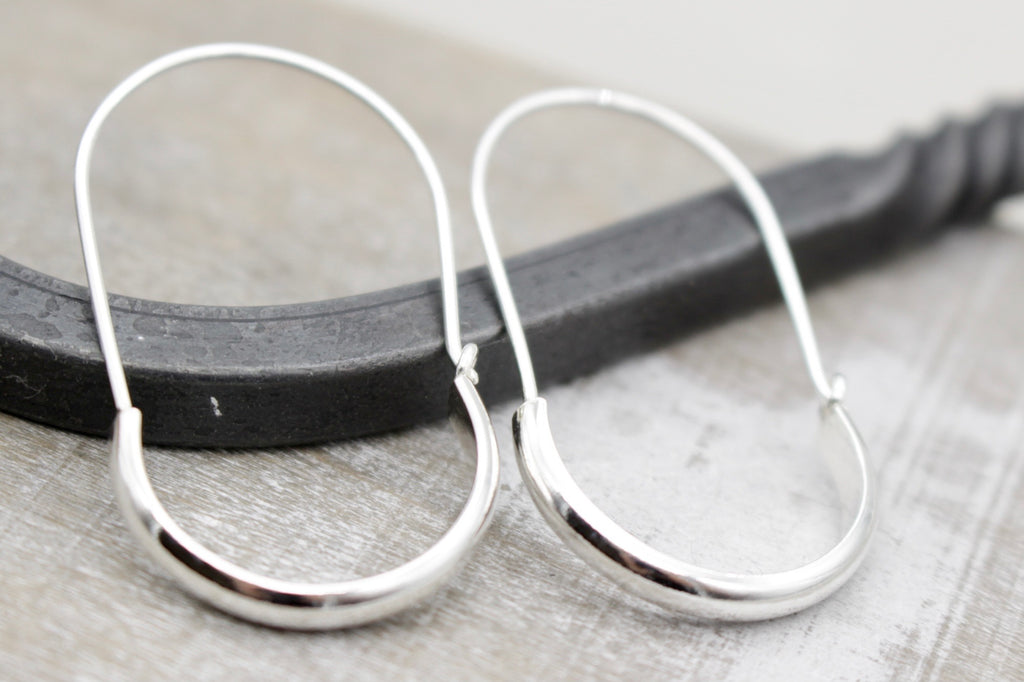 Plain Sterling Silver Hoops