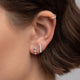 Single Diamond Bar Stud Earring - Rachel Reid Jewelry