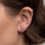 Mini Diamond Heart Stud Earrings - Rachel Reid