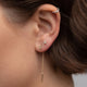 Threader Earring With Double Diamonds - Rachel Reid