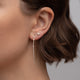 Mixed Diamond Wire Earrings - Rachel Reid Jewelry