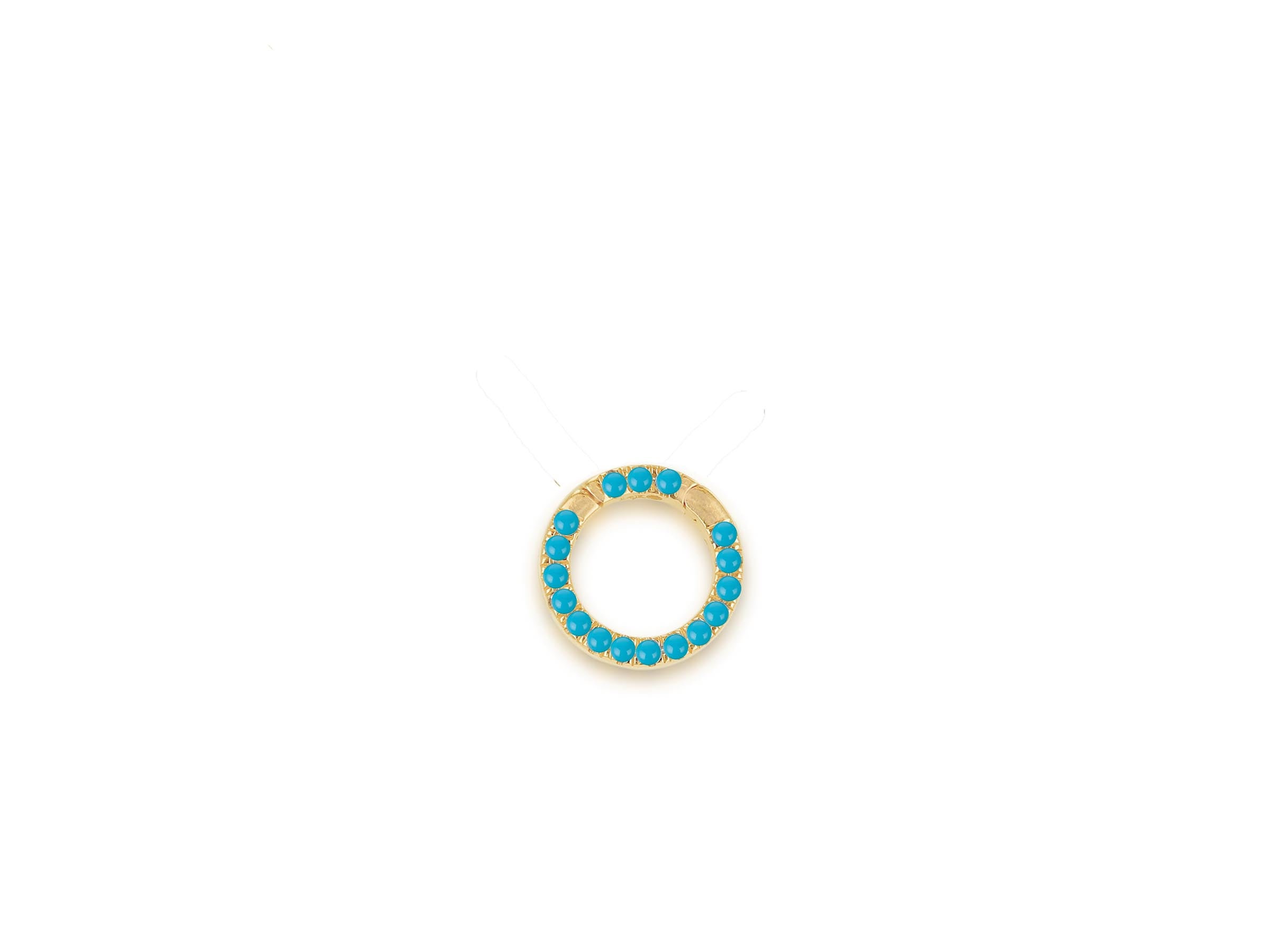 Round Turquoise Charm Clip