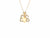 Necklace with Mini Gold Heart &  Choice of Two Diamond Letters - Rachel Reid Jewelry
