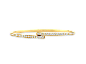 Diamond Bypass Bangle - Rachel Reid