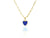 Mini Navy Enamel Heart Charm