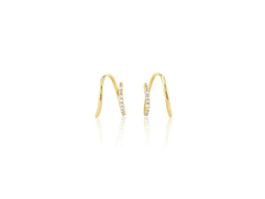 Diamond Pave Screw Twist Earrings - Rachel Reid Jewelry