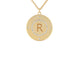 Personalized Diamond Disc Necklace - Rachel Reid Jewelry