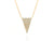 Diamond Pave Triangle Necklace - Rachel Reid Jewelry