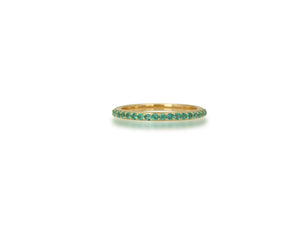 Pave Emerald Band Ring - Rachel Reid Jewelry