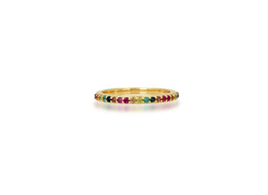 Pave Rainbow Band Ring - Rachel Reid Jewelry