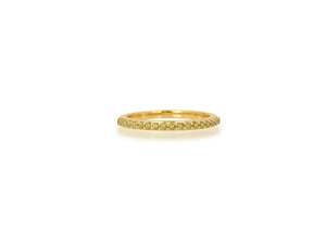 Pave Yellow Sapphire Band Ring - Rachel Reid Jewelry