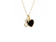 Black Enamel Heart &  Choice of Diamond Letter Necklace - Rachel Reid