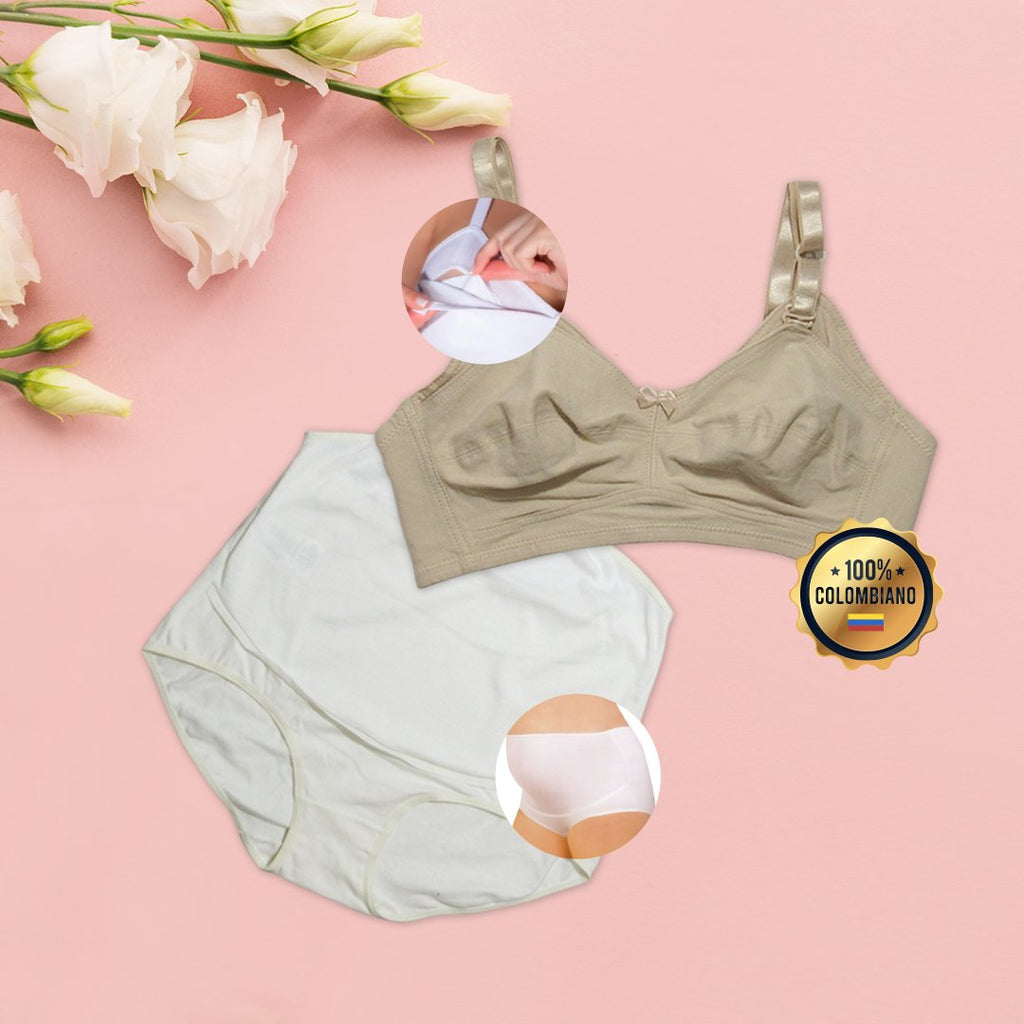Brasier Materno Ref.1290 + Panty Materno 2490 - Marie Louise Ropa Interior