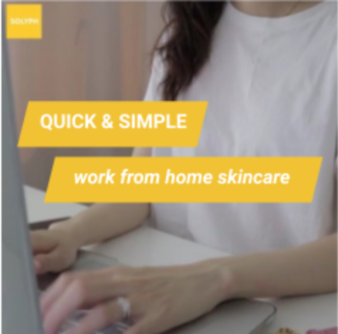 Work-from-home skincare with Active set!