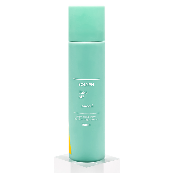 SOLYPH - Take Off Smooth, Moisturizing Cleanser. Take OFF impurities with phytoncide-filed water. Thoroughly cleanse away sweat, sebum and make-up gently all at once, without drying or irritating the skin. Put ON the goodness of the skin-loving ingredients to soothe and hydrate. Prevent skin damage from harmful particles in the environment for radiant and translucent skin.