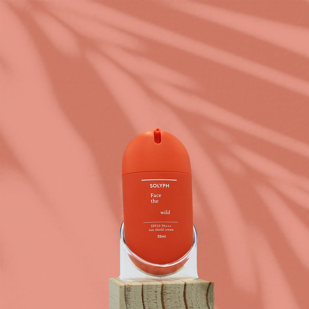 <b>Face the wild, suncream</b><br><i>SPF50 PA++ physical sun protection</i> - 35ml