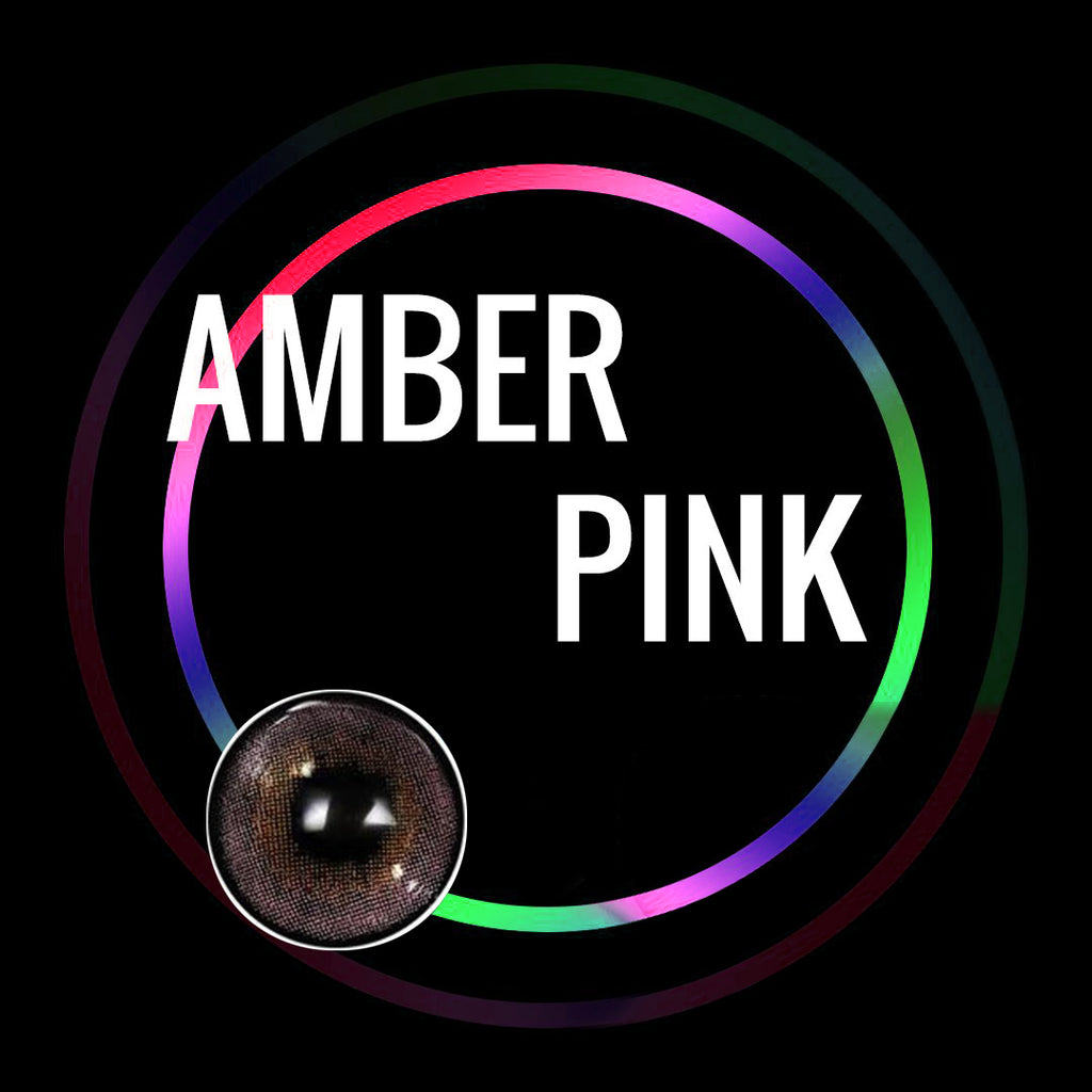 Eye Circle Lens Amber Pink prescription colored contact lenses-Eyemi