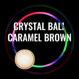Eye Circle Lens Crystal Ball Caramel Brown prescription colored contact lenses-Eyemi