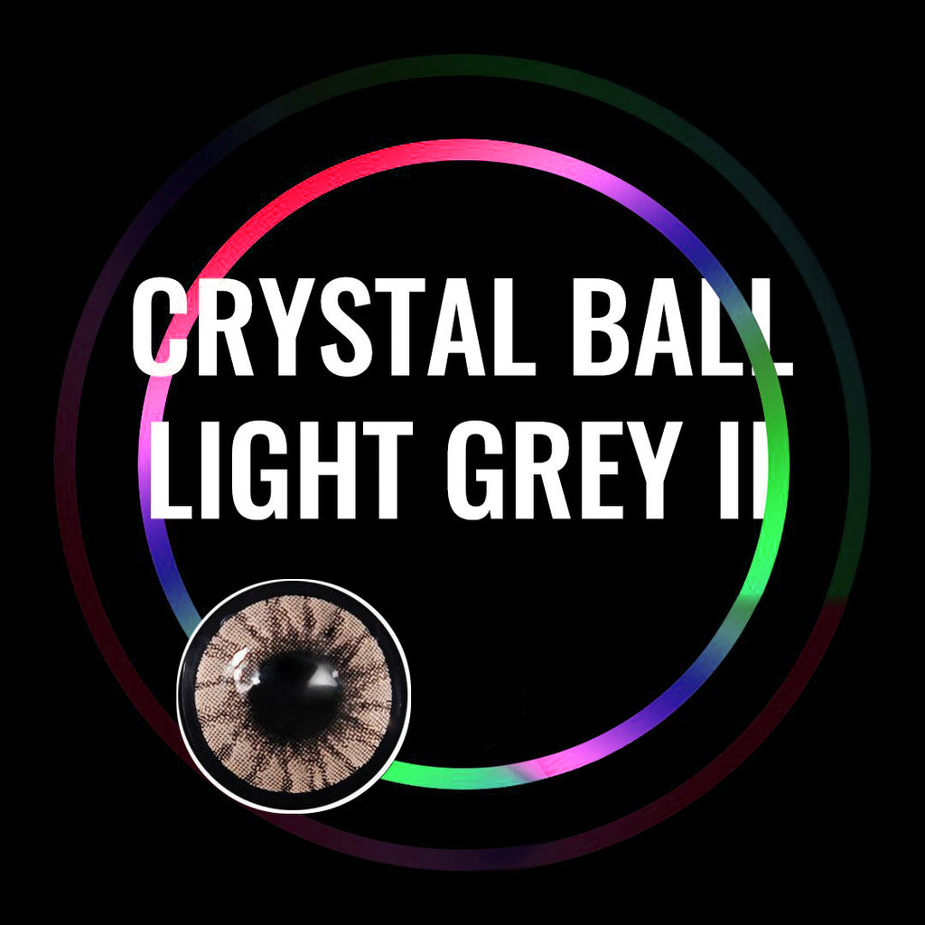 Eye Circle Lens Crystal Ball Light Grey II prescription colored contact lenses-Eyemi