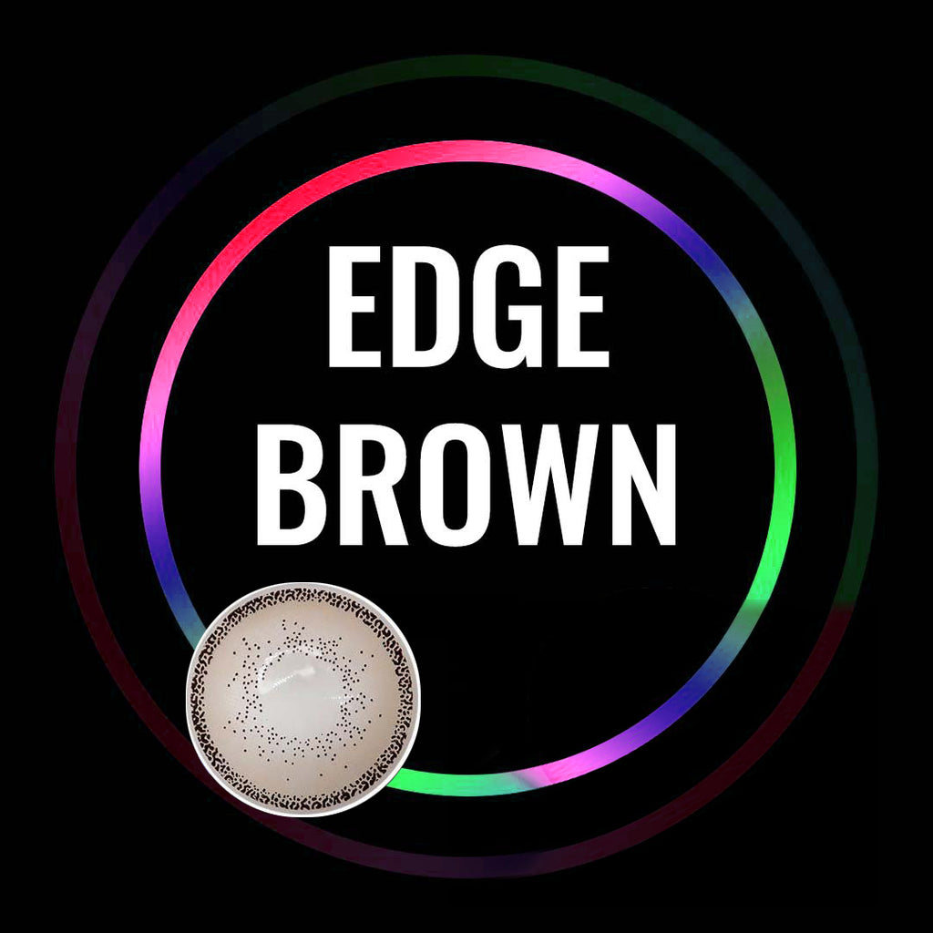 Eye Circle Lens Edge Brown prescription colored contact lenses-Eyemi