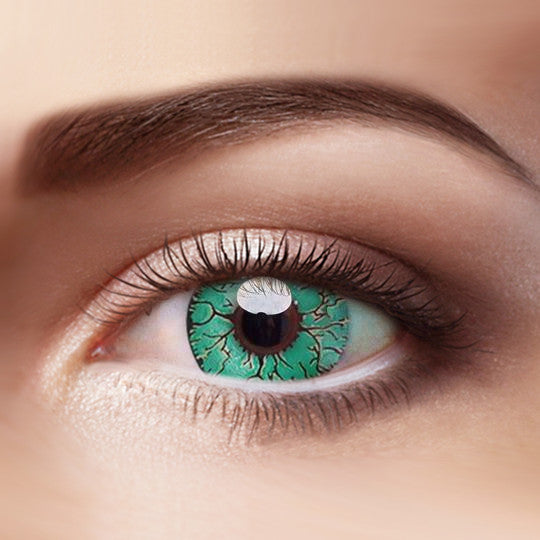 Eye Circle Lens Fissure Green prescription colored contact lenses-Eyemi