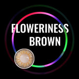 Eye Circle Lens Floweriness Brown prescription colored contact lenses-Eyemi