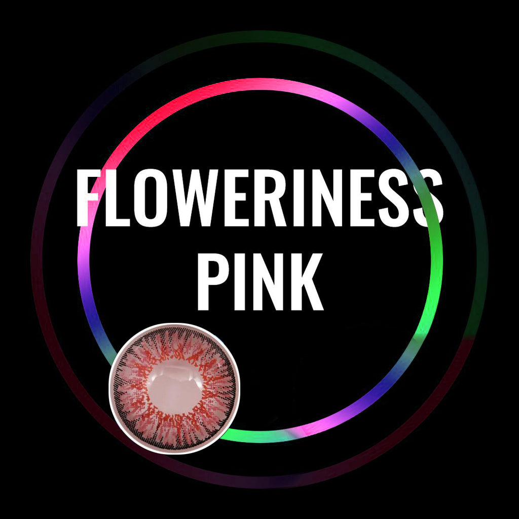 Eye Circle Lens Floweriness Pink prescription colored contact lenses-Eyemi