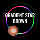 Eye Circle Lens Gradient Star Brown prescription colored contact lenses-Eyemi